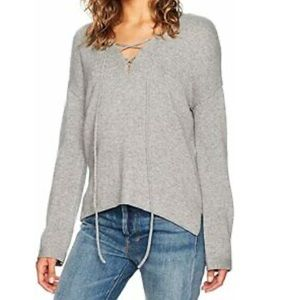 Joie Larkin Lace Up Sweater